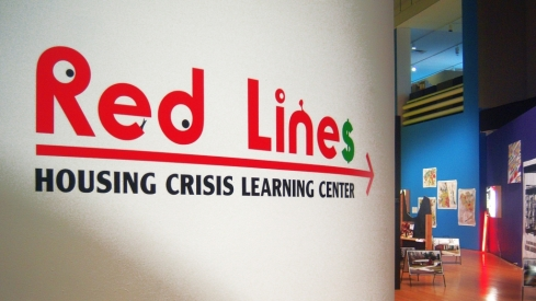Entrance to 'Red Lines Housing Crisis Learning Center'