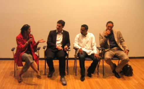 Discussion Panel: (L to R) Prerana Reddy, Damon Rich, Manauvaskar Kublall, Lionel Oullette